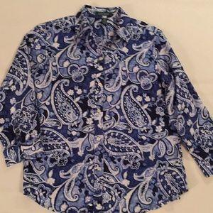 Ralph Lauren Blue Paisley Shirt